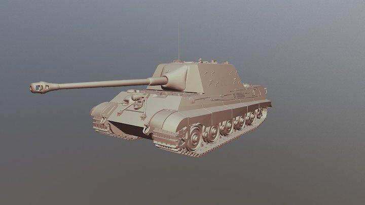 Panzerjäger Tiger Ausf. B 'Jagdtiger' Tank 3D Model