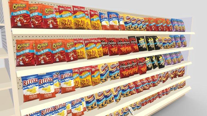 Chips Shelf 3D Model