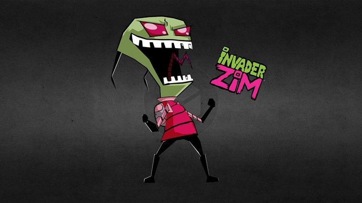 Invader ZIM Lowpoly 3D Model