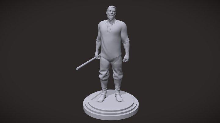 Viking WIP Test Pose 02 3D Model
