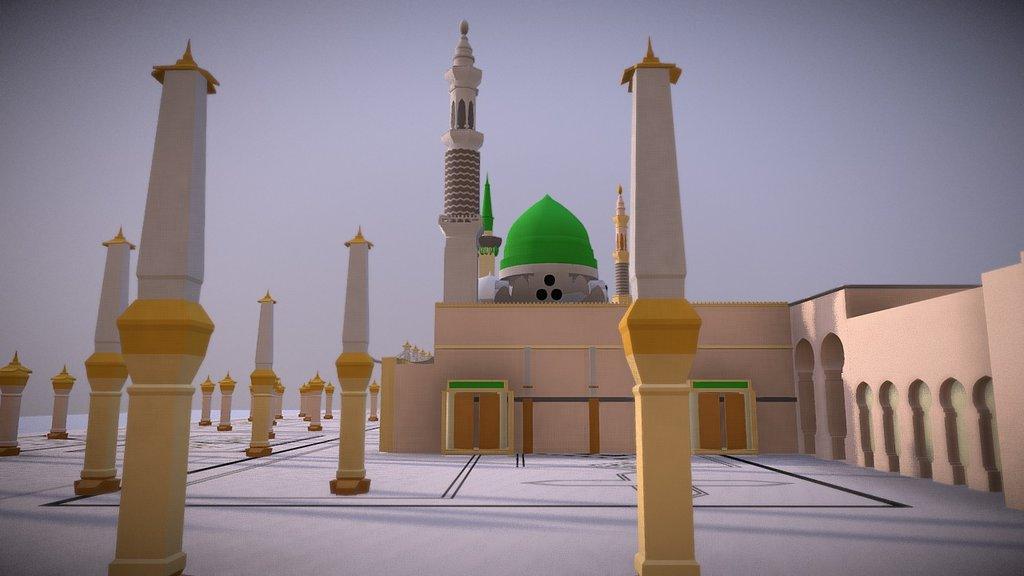Masjid Nabawi Madina Al Munawwara Buy Royalty Free 3d Model By Feisalkassim Feisalkassim Aa1512b Sketchfab Store