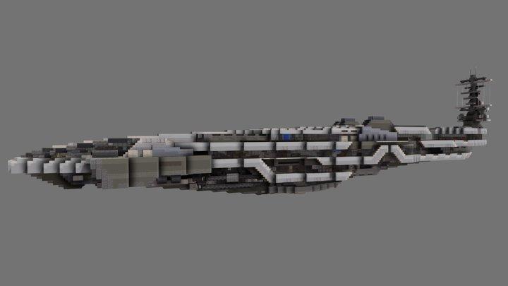 SpaceYacht 3D Model