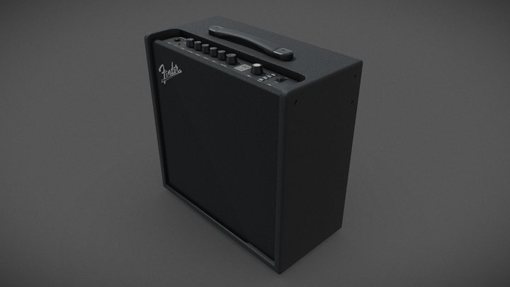 Fender LT50 AMP - Game-ready model 3D Model