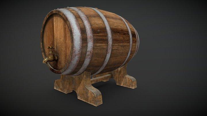 Barrel wine 3D Model