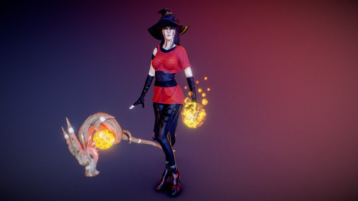 Ghostly witch 3D Model