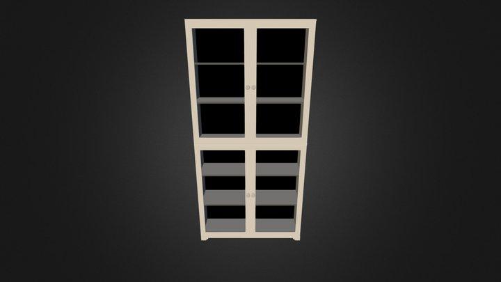 Bookcase 3D-010 3D Model