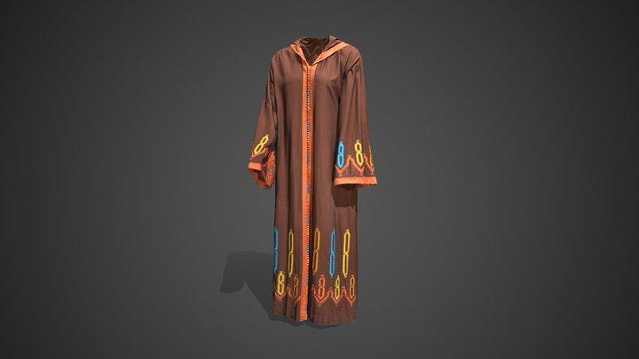 Moroccan Robe - Ramadan Mubarak! 3D Model
