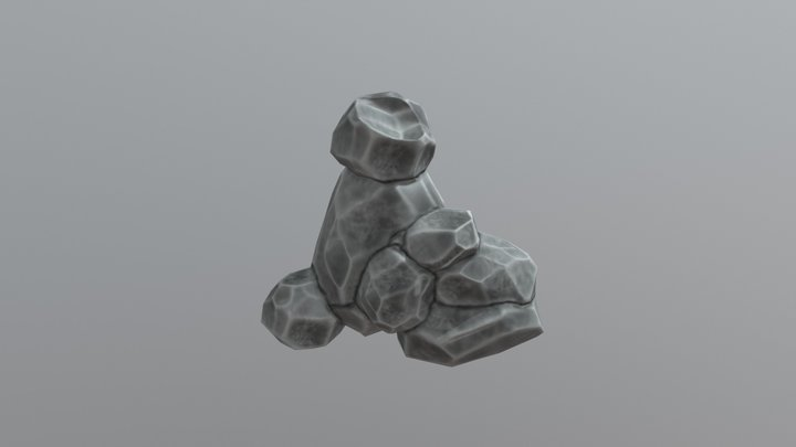 Rock 5, Game Ready Low Poly 3D Model