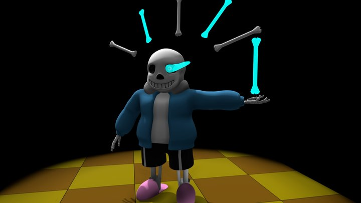 "Sans | ""You´re gonna have a bad time"". 3D Model"