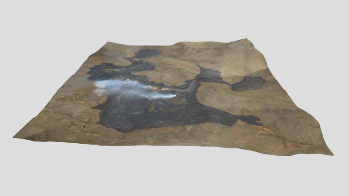 Geldingadalir volcanic eruption 21.04.2021 3D Model