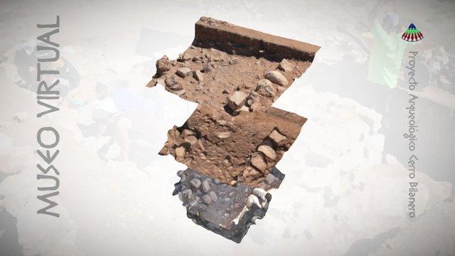 Acumulación de cerámica - Proceso de excavación 3D Model