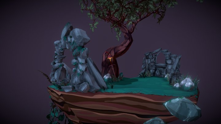 Island Diorama 3D Model