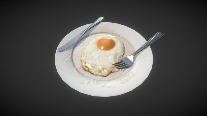 Egg Fry 3D Model