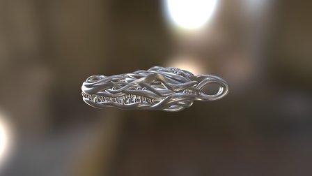 Crocodile Head Pendant 3D Model