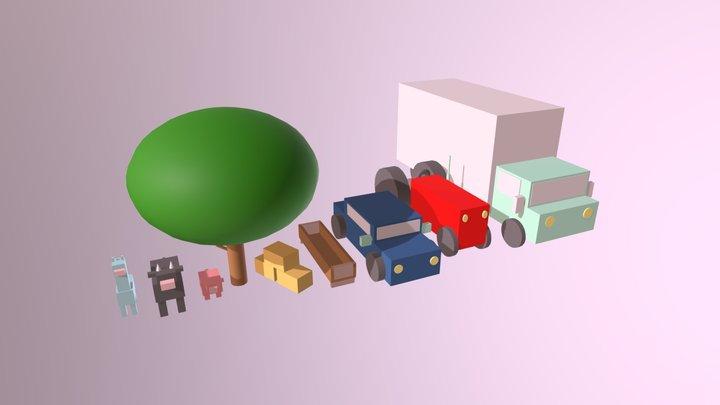 Alt_Geometric Assets 3D Model
