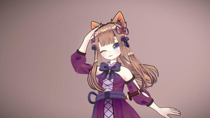 Maeko Mitsuki - Original Character 3D Model