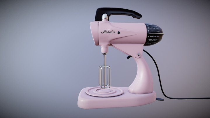 Vintage Sunbeam Mixmaster from the 50s 3D Model