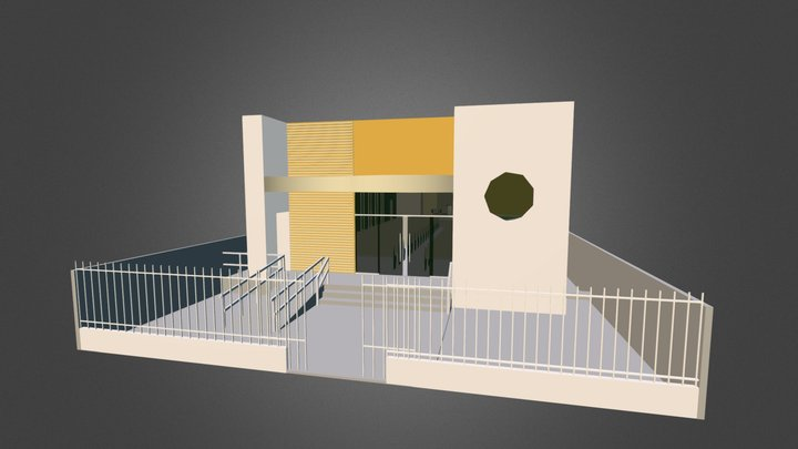 Igreja Padrao ARQUITETURA 210 MEMBROS 3D Model