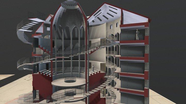 Panopticon: A Round Prison 3D Model