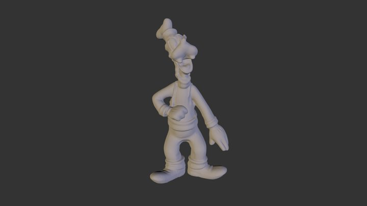 Goofy Scan Original 3D Model