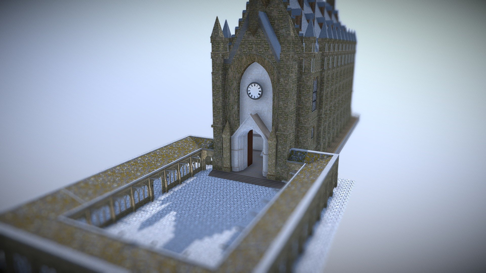 Great Hall Courtyard Hogwarts Buy Royalty Free 3d Model By