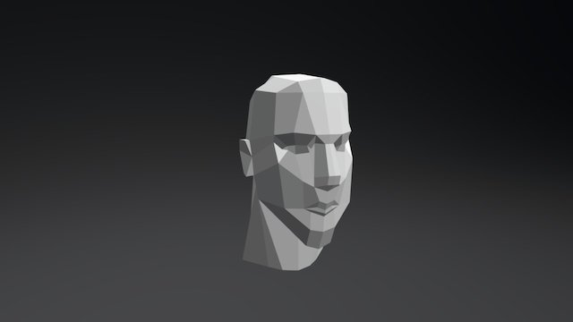 MY FIRST LOWPOLY FACE 3D Model