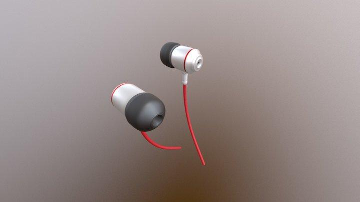 Daily 3D challenge #05 — Earphones 3D Model