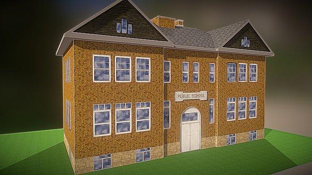 Rapid City School 3D Model