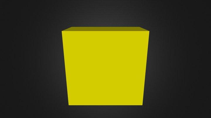 Puzzle Cube Yellow Website 3D Model
