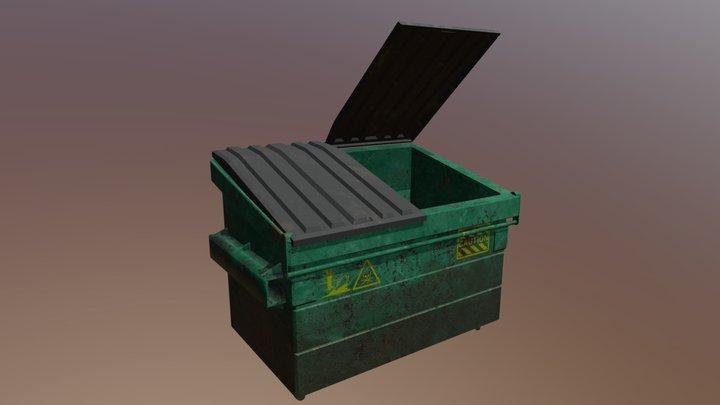 Old Rusty Dumpster 3D Model