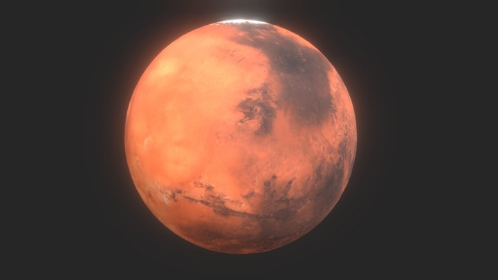 Animated 3D Mars lowpoly 3D Model
