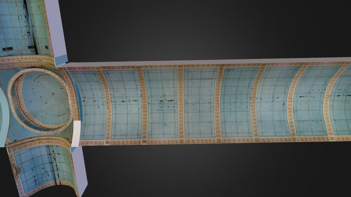 Lazi Church Ceiling Paintings 3D Model