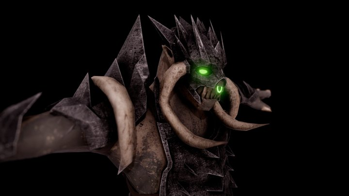 Armored Troll - Raising Banners 3D Model