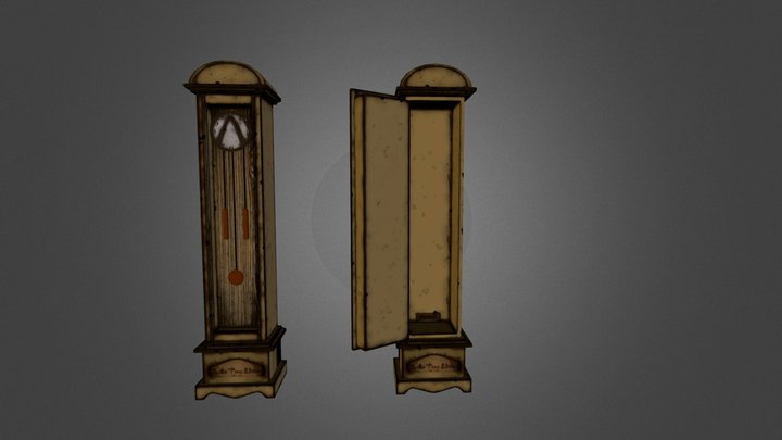 father_time_clock 3D Model