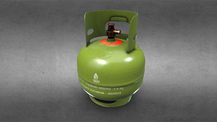Gas LPG (elpiji) 3Kg - 1K Retexturing 3D Model