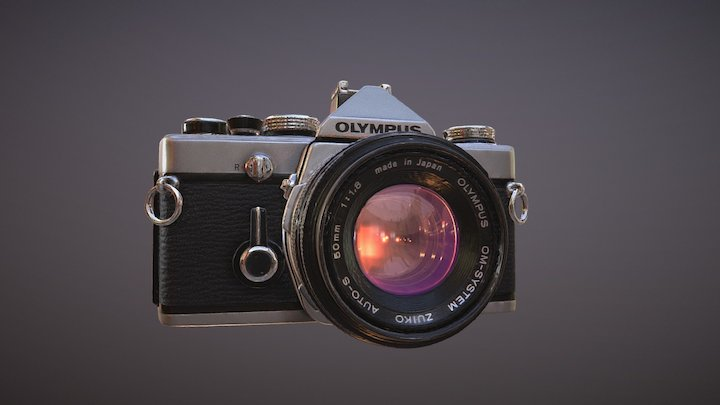 Olympus Film Camera PBR Scan Project 3D Model