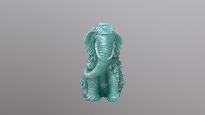 Wax Elephant (Candle) 3D Model