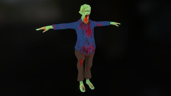 Hunter Pet Zombie 3D Model