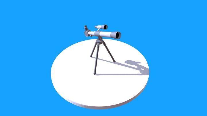 Low-Poly Telescope 3D Model