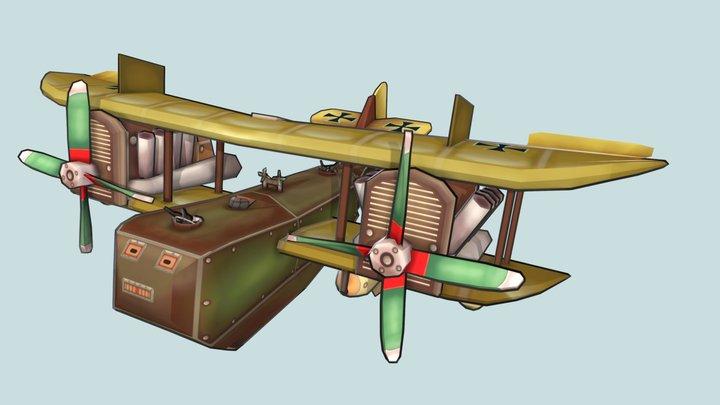 Stylized plane (Felixtowe) 3D Model