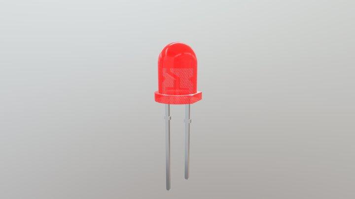 LED 5mm - red 3D Model
