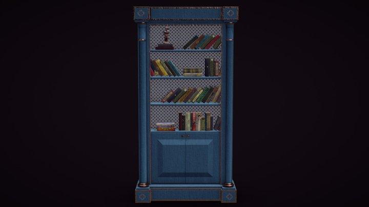 Book Cabinet (Vintage) 3D Model