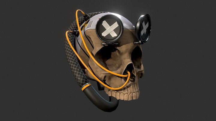 Cyber Skull 3D Model