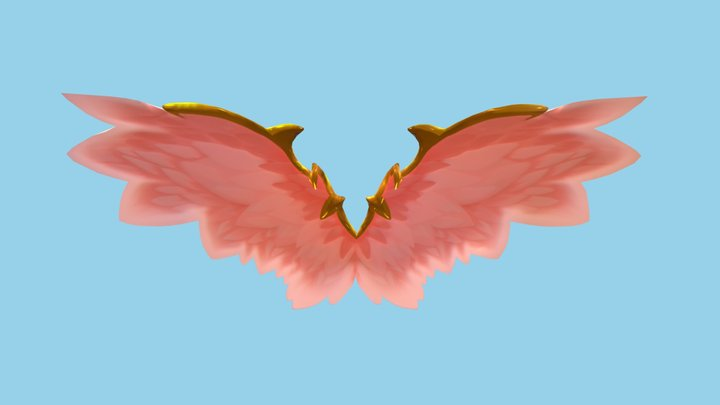 Low-Poly-Ancient-Fairy-Angel-Wings 3D Model