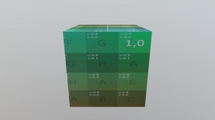 Test export Cube Anim GLTF 2.0 3D Model