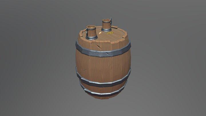 Stylized Barrel Scene 3D Model