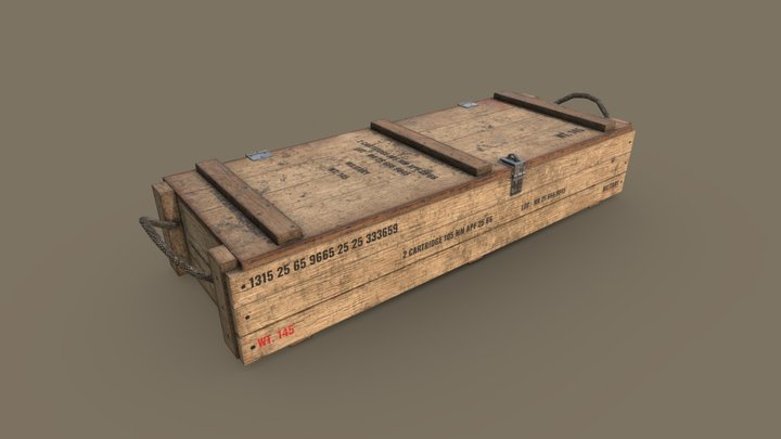 Rifle Box (Low Poly) 3D Model