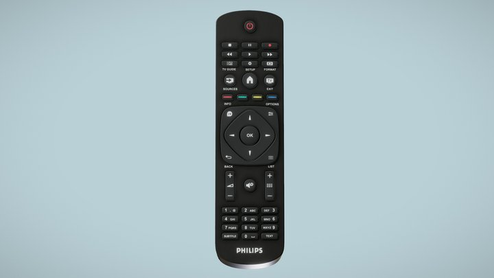 Philips TV Remote Controller 3D Model