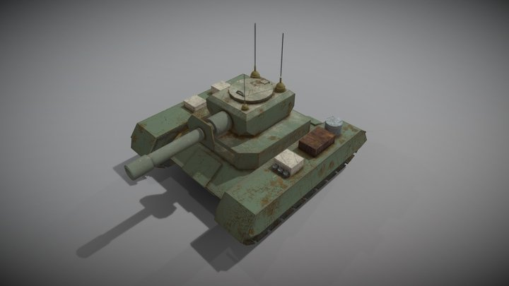 Battle Tank Game Ready Asset 01 3D Model