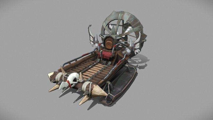 Airboat 3D Model